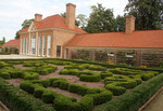Upper Gardens and slave quarters at Mount Vernon home of  George Washington