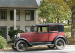West Virginia, Greenbrier County, Lewisburg, Washington Street, red Model A Ford,