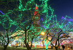 Holiday lights at Public Square in Cleveland, Ohio