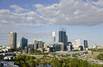 Panoramic of city with beautiful skyline of Perth from above in Western Australia Australia