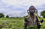 Mago National Park Ethiopia Africa Mursi tribe man Lower Omo Valley tradition tribal wild pottery