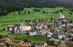 Village of Balzers in Liechtenstein in the mountains in the small country next to Switzerland