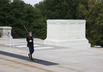 Changing of the guard at the tomb of the Unknowns in Arlington Cemetery in DC