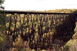 Railroad bridge in Kinzua Pennsylvania in Allegheny Sate Park