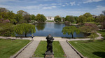 Wade Oval lagoon and the Cleveland Art Museum