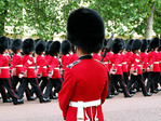 Changing of the guards at Buckingham Palace in London