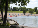 Edgewater Park on Lake Erie in Cleveland, Ohio