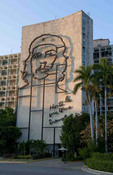 Che Guevara artwork for hero in Revolution Square in Havana Cuba