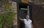 Cuba Las Terrazas in Sierra del Rosario old coffee plantation kitchen cocina with woman chef in mountains