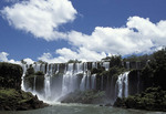 Iguassu Falls the most spectacular waterfall in the world. National Park, Brazil, Argentina, Paraguay,