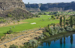 Twin Falls Idaho beautiful exclusive Blue Lake Country Club in valley of mountain and expensive and private golf course and blue lake