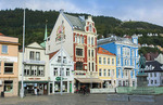 Bergen Norway Bryggen old town old buildings and colorful architecture area for tourists in BRYGGEN scenic color