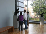 Young people looking at sculpture at Cleveland Art Museum