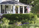 Front porch USA with flag