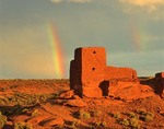 Rainbow at Wukoki ruin, Wupatki National Monument, near Flagstaff, Arizona  AGPix_0011