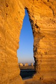 Natural Window at Monument Rocks National Landmark, North of Scott City, Kansas, USA, AGPix_0013