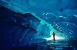 Exploring Glacial Ice Cave, Alaska, Glacier Bay National Park, Alaska  AGPix_0014