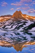 Ice Lake at sunrise in the, San Juan Mountains, San Juan National Forest, Colorado, AGPix_0015