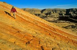 Hiking on Sandstone, the Coxcomb area of Grand Staircase-Escalante National Monument, Utah, AGPix_0050