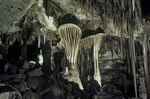 """The Parachute,""  with other stalactite cave formations inside Lehman Caves, Great Basin National Park, Nevada, AGPix_0053"