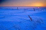 Sunset over snowy fields, winter on Northern Great Plains in Mercer County, North Dakota, AGPix_0063