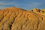Soft sediments of the Badlands eroded by running water, at Badlands National Park, South Dakota, AGPix_0077