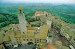 San Gimignano with its Medieval towers, San Gimignano, Tuscany, Italy, AGPix_0096