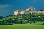 The Basilica of St. Francis of Assisi, in medieval hilltop town of Assisi, Umbria, Italy, AGPix_0100