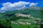 Opi, a medieval hilltop town in Abruzzo National Park, Apennine Mountains, Abruzzo, Italy, AGPix_0104