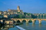 City of Albi on Tarn River, with Cathedral of Ste-Cecile, Tarn District, southwestern France, AGPix_0108