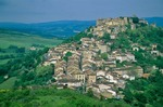 Hilltop town of Cordes Sur Ciel above the Cerou Valley, Tarn District of southwestern France, AGPix_0109