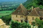 Country house at Castelnau on hillside above the Dordogne Valley, in Aquitaine, France, AGPix_0119