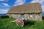 Cart and stone building on Inis Mor in the Aran Islands, County Galway, Ireland, AGPix_0134