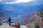 Family visits Grand Canyon at Cape Royal on North Rim of Grand Canyon National Park, Arizona, AGPix_0148