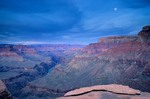 Rocks on canyon rim at Yuma Point at sunset, view From Boucher Trail, Grand Canyon National Park, Arizona, AGPix_0154