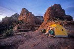 Campsite on Steamboat Rock, Red Rock-Secret Mountain Wilderness, Coconino National Forest, Sedona, Arizona, AGPix_0157