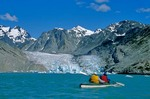 Sea Kayaking in Muir Inlet near the face of McBride Glacier, Glacier Bay National Park, Alaska, AGPix_0158