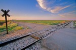 Railroad Crossing along country road on Highway 23, near Venango, Nebraska, AGPix_0174