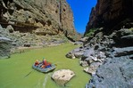 "Raft at ""Tight Squeeze"" on the Rio Grande in Mariscal Canyon, Big Bend National Park, Texas, AGPix_0175"