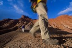 Hiking in badlands near Pahreah, Grand Staircase-Escalante National Monument, Kanab, Utah, AGPix_0176