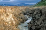 River Lethe carves canyon through ash deposits in Valley of Ten Thousand Smokes, Katmai National Park, Alaska, AGPix_0195