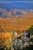 Visitors viewing Grand Canyon From Yavapai Point on the South Rim at Grand Canyon National Park, Arizona, AGPix_0215