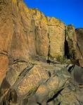 Petroglyph Site at tinaja on Perry Mesa at Agua Fria National Monument, Arizona, AGPix_0236