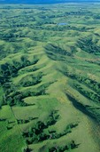 Aerial of Iowa's Loess Hills, formed from wind-blown soils, north of Sioux City, Iowa AGPix_0251