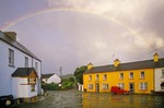 Rainbow over village of Sneem in County Kerry, Ireland, AGPix_0286