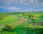 Grand River flows across prairie at Grand River National Grassland, north of Bison, South Dakota, AGPix_0295