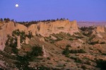 Moonrise over Slim Buttes, Custer National Forest, Harding County, South Dakota, AGPix_0303