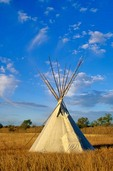 Tepee at Washita Battlefield National Historic Site, near Cheyenne, Oklahoma, AGPix_0333
