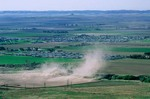 Wind erodes soil from farm field near Scottsbluff, Nebraska, AGPix_0340