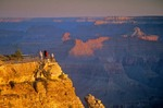 Visitors view sunrise at Grand Canyon from Mather Point on South Rim, Grand Canyon National Park, Arizona, AGPix_0354